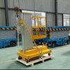 elevación de aluminio hidráulica de la plataforma de trabajo del mástil doble 200kg del 12m