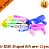 O silicone ostenta USB Pendrive do Wristband/bracelete do presente (YT-6301)