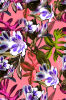 As flores coloridas imprimiram a tela para o Swimwear (ASQ089)
