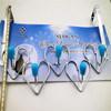 Percha del diseño de Speical del gancho de leva de la ropa de los ganchos de leva de la dimensión de una variable del corazón