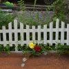 Длинний сад Fence Wood с White Color