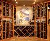 Alcangando a adega de vinho