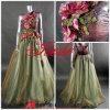Vestido do partido das flores/vestido de casamento (L-70)