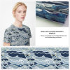 Ткань Organza одежды конструкции облака напечатанная цифров