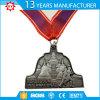 Médaille faite sur commande de marathon de modèle argenté d'aperçu gratuit de placage