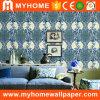 Papier peint bon marché de maison de créateur de damassé de papier de mur des prix