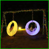 Campo de recreio interior e exterior Glowing Swing Swing Swing Wedding Romantic
