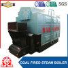 저압 석탄에 의하여 발사되는 증기 또는 온수 보일러