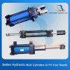 Hydraulische Cilinder van het Acteren van de Cilinder van de Trekstang de Hydraulische Dubbelwerkende Enige