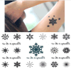 Tatuaje temporal impermeable de la carrocería de la etiqueta engomada del tatuaje del copo de nieve