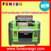 Preço UV da impressora do diodo emissor de luz, impressora UV Flatbed UV da impressora A3