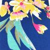 Fiore blu che tinge il tessuto del lenzuolo di T/C per estate