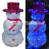 Kerstmis van de LEIDENE Sneeuwman van de Slinger steekt Openlucht aan