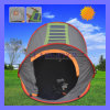 Camping portatile Orange Solar Tent da vendere Con Solar Power LED Light Fan