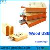 Mecanismo impulsor de madera del flash del USB de la insignia 16GB del grabado del laser (EW056)
