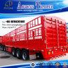 Semi Aanhangwagen van uitstekende kwaliteit van de Staaf van het Pakhuis van de Staak van de Omheining van het Vervoer van het Vee van 3 As 55t de Trapsgewijze (mandtype van achterdeuropties structuur) (LAT9402CCY)