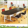Таблица встречи овальной формы офиса деревянная для конференции офиса