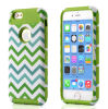 Phone móvil Accessories TPU Caso Blue White Chevron Cover Two-Layer Slim Protective Cover para iPhone6 e iPhone6 Plus