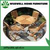 أثاث لازم [فولدبل] خارجيّة خشبيّة مع 4 كرسي تثبيت