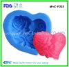 Moule de fondant de silicone de forme de coeur