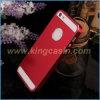 Caja de aluminio cepillada metal ultra fino del lujo 0.3m m para el iPhone 5 5s