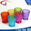 Bunte Zylinder-Form Tealight Glaskerze-Halter (CHZ8006)