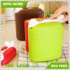 Cozinha limpa Armazenamento de alimentos plásticos com tanque de colher com copo Cereais de plástico de grande capacidade Crisper / BPA Free