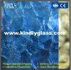 Blaue Kräuselung gerolltes Glas