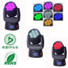 새로운 Mini 7PCS12W Moving Head Zoom LED Wash Light