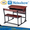 두 배 Seat Primary 및 Middle School Hardwood Timber Furniture