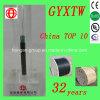 GYXTW 6 Core Outdoor Central Tube Cabo de fibra óptica com fio de aço paralelo para comunicações