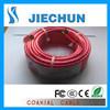 Cable coaxial Rg PVC verde/rojo de 6u