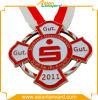 Aangepaste Toegekende Gouden Medaille met Lint