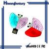 Mémoire Flash en cristal 8GB (HWSJ-EY0017) d'USB de bijoux de papillon