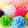 Bolas de la flor del papel de tejido de la decoración del banquete de boda POM Poms
