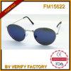 Lunettes de soleil rondes de la vente FM15622 de marque de mode de mode chaude de mode élevée pour la femelle