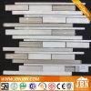 Nueva venta caliente de aluminio beige y oro aerosol azulejo cristal de mosaico (M855060)
