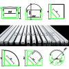Difusor helado del acrílico o del policarbonato para el perfil de aluminio Alp001r del LED