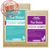 茶減量の茶(14日間の解毒プログラム)を細くする有機性草の解毒の茶