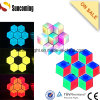 Hexágono 3D LED Wall Screen Hotel Restaurant Lighting Decoration