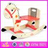 2015 brinquedo novo e popular do cavalo de balanço para o miúdo, cavalo de balanço de madeira para crianças, melhor do brinquedo que vende o brinquedo W16D006 do cavalo de balanço do bebê