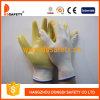 Ddsafety 2017の白いナイロン手袋PVC上塗を施してある安全手袋