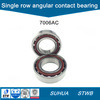 7300 tipo cuscinetto a sfere angolare del contatto di singolo formato metrico di riga