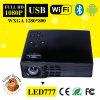 WiFi plein HD de multimédia mini projecteur de DLP de poche de 500 lumens