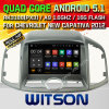 Carro DVD GPS Ffor Chevrolet Capativa novo 2012 do Android 5.1 de Witson com sustentação do Internet DVR da ROM WiFi 3G do chipset 1080P 16g (A5732)