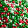녹색 Red 및 White Nonpareils
