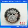Argent brillant fait sur commande et double bouton plaqué argenté mat d'insigne de Pin en métal