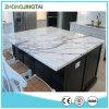 Bancadas brancas de pedra projetadas venda por atacado da cozinha da laje de quartzo