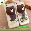 Caixa do telefone de pilha do urso TPU da peluche para o iPhone 6 6s
