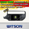 Carro DVD GPS do Android 5.1 de Witson para KIA Rio 2015 com sustentação do Internet DVR da ROM WiFi 3G do chipset 1080P 16g (A5562)